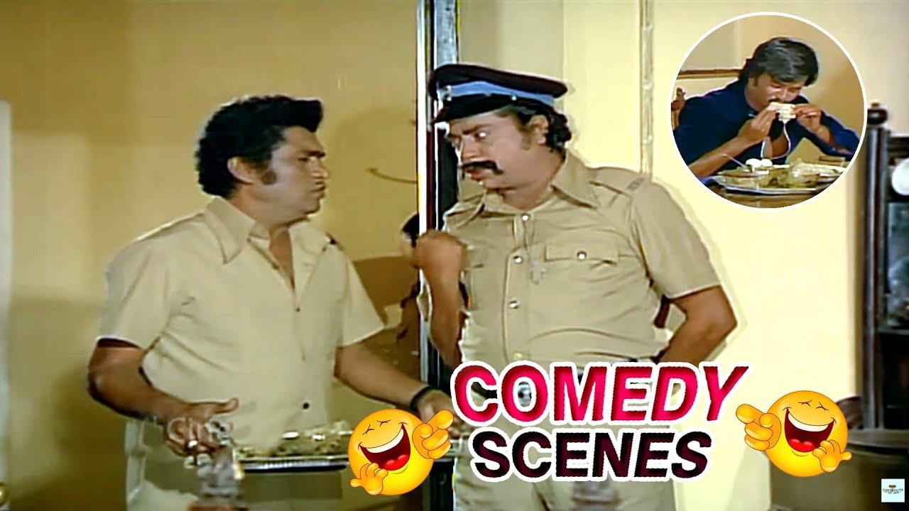 Rajinikanth Eating Comedy Scene    Tamil Comedy Scenes    Super South Movies