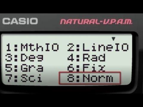 how to show all decimal in casio fx3650p