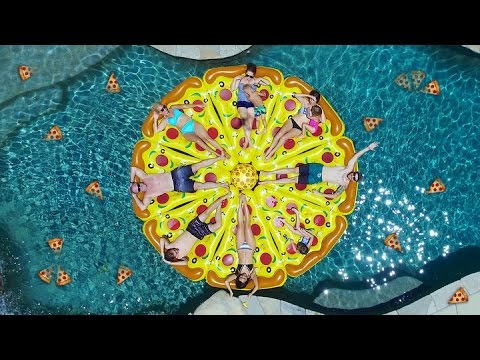 Repeat epic pizza pool party by daily bumps you2repeat for Pool party daily show