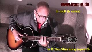 b minor tune in open d loar lh 200 sn