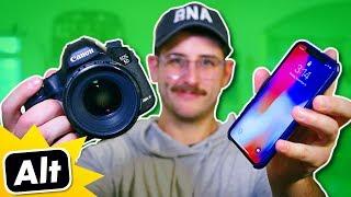 iPhone X VS DSLR Camera