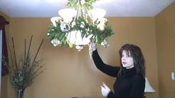 Video: How To Decorate A Chandelier / Light Fixture For Christmas! Part 2