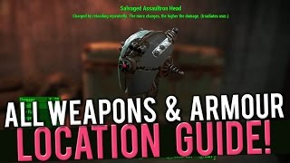 Fallout 4 - ALL Automatron Weapons And Armour Location Guide