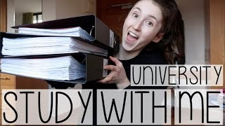 STUDY WITH ME AT UNIVERSITY #001 | FOLDER ORGANISATION HACKS + ADVICE