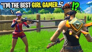 I met the BEST girl gamer in Fortnite random duos... (she works for Epic Games)