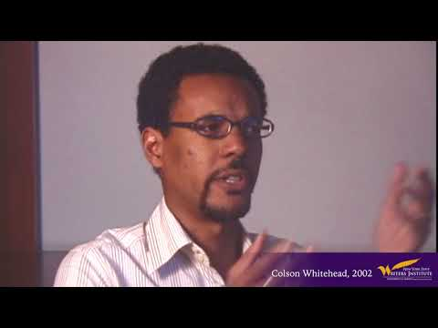 Colson Whitehead On How He Came To Write His First Novel (2002 Interview)