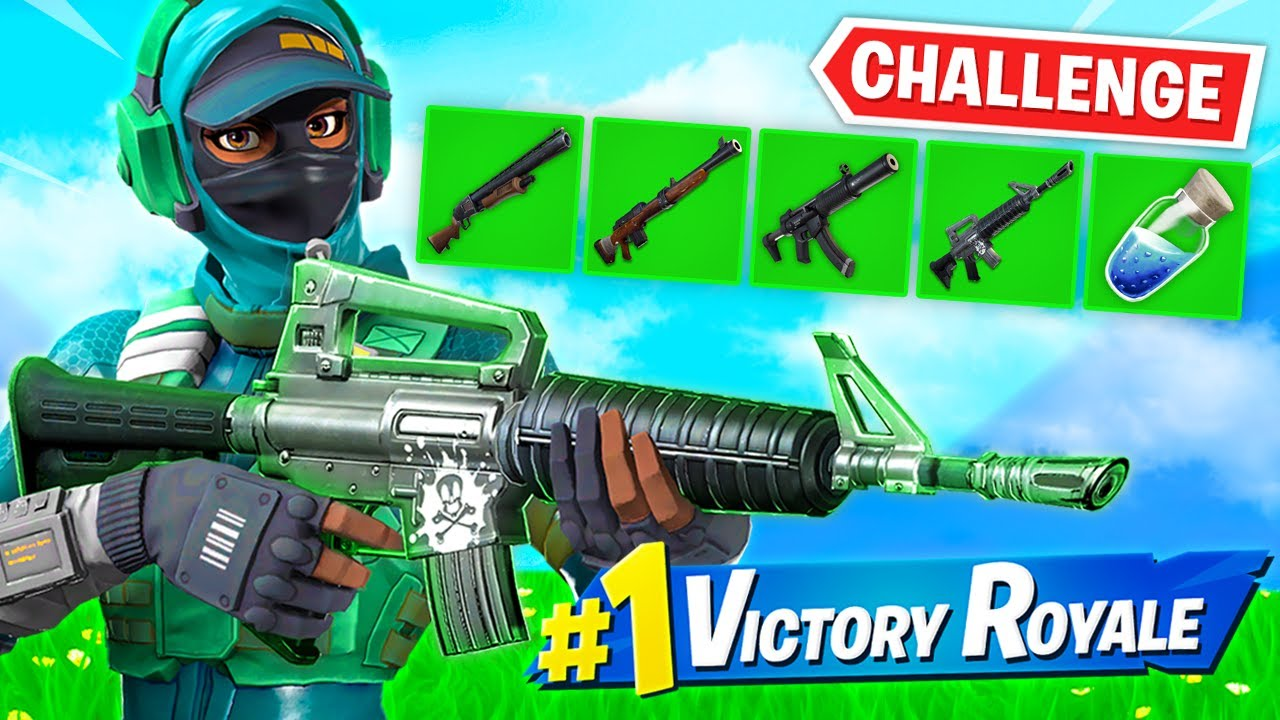 GREEN GUNS *ONLY* CHALLENGE in Fortnite!