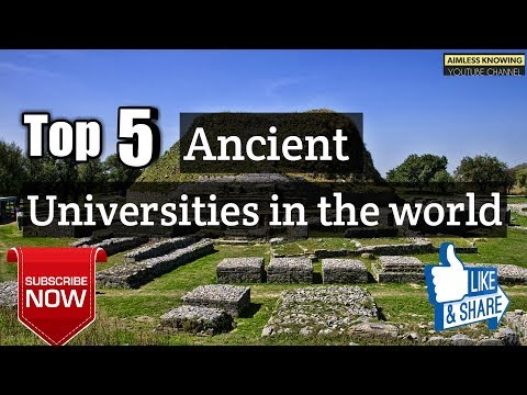 Top 5  Ancient Universities in the world with descriptions