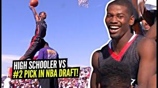 High Schooler Beats #2 Pick In NBA Draft In EPIC Dunk Contest!!