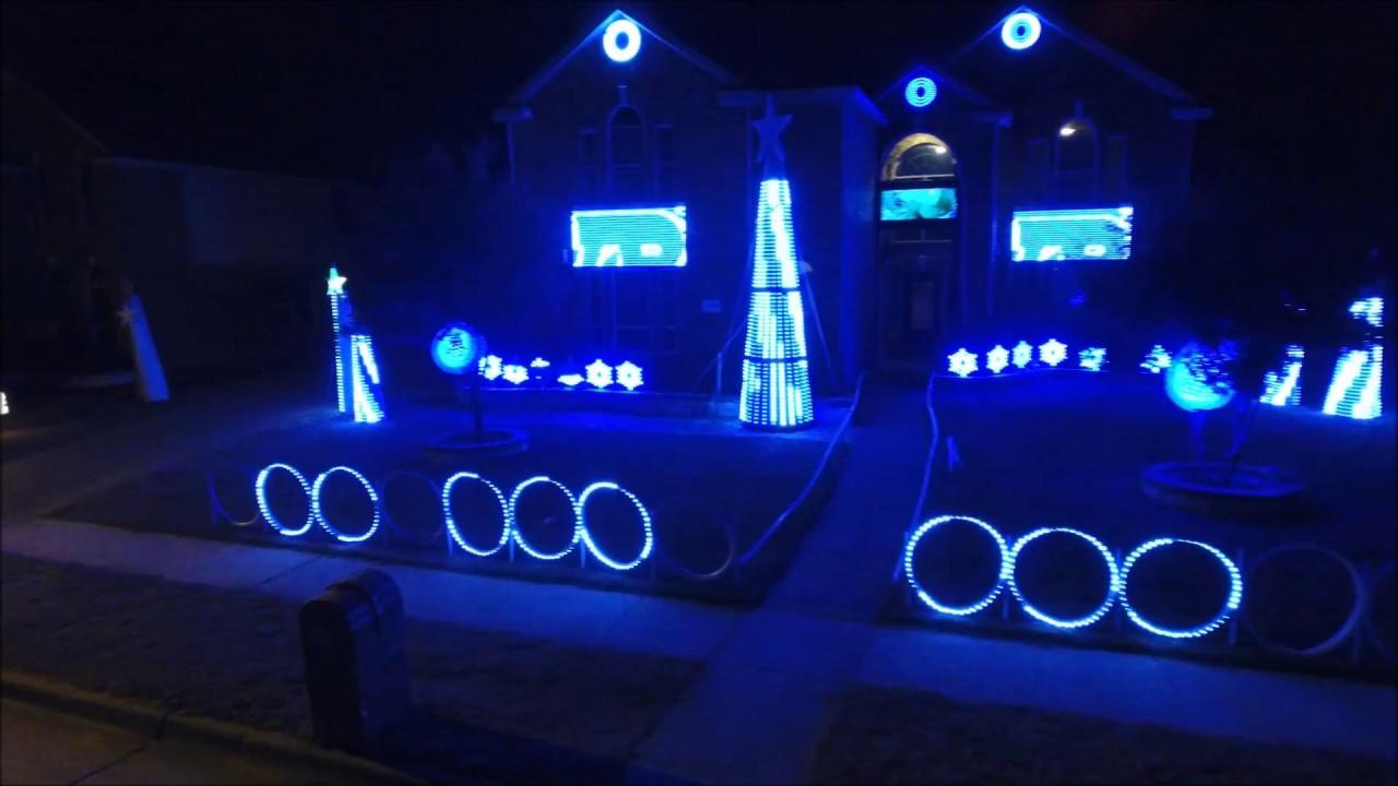 dallas cowboys christmas lights tribute 2016