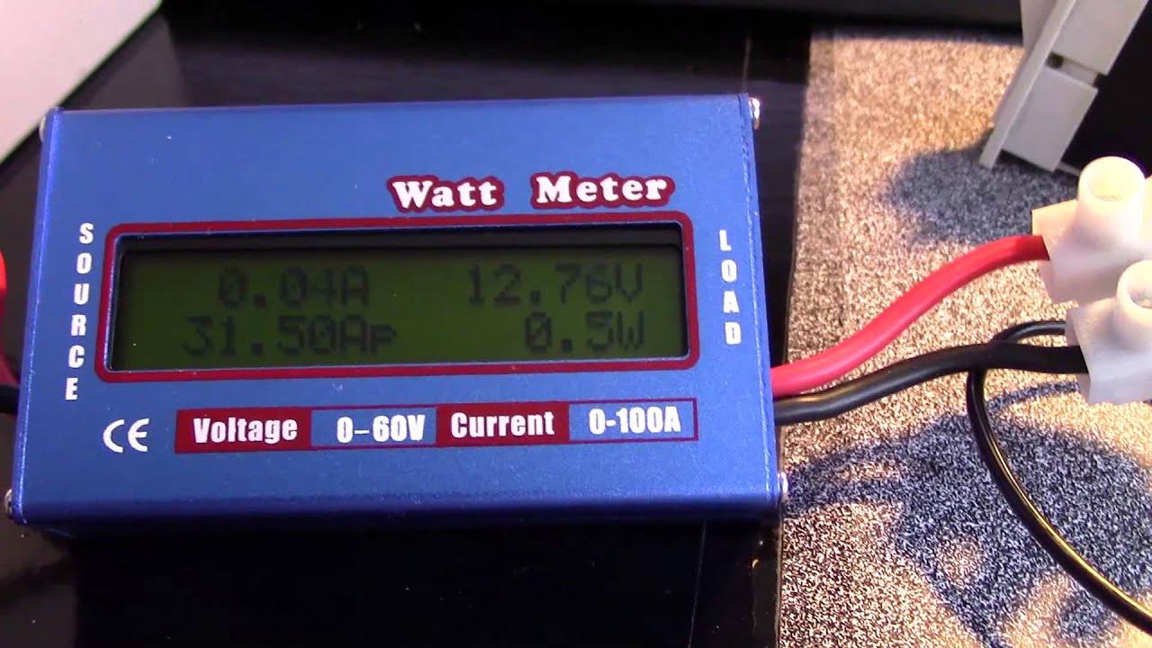 Power Watt Meter : Quick look at dc power watt meter v a youtube
