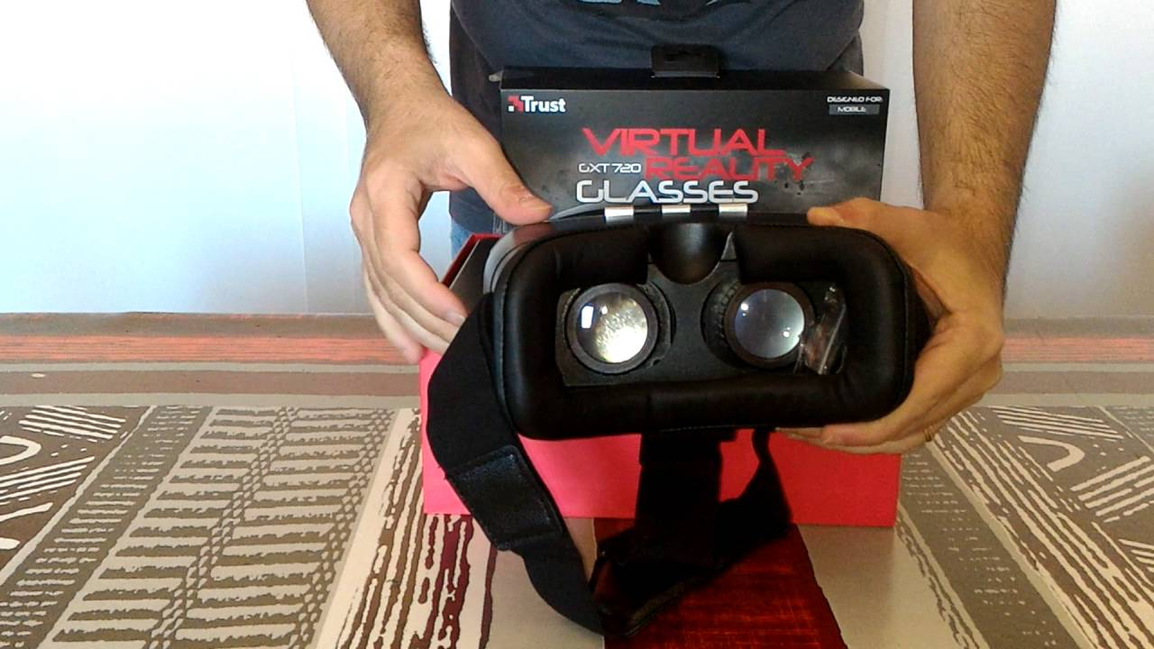 c372f4240 GXT 720 VIRTUAL REALITY GLASSES Trust Video Unboxing - YouTube