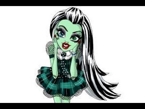 how to draw frankie stein from monster high youtube