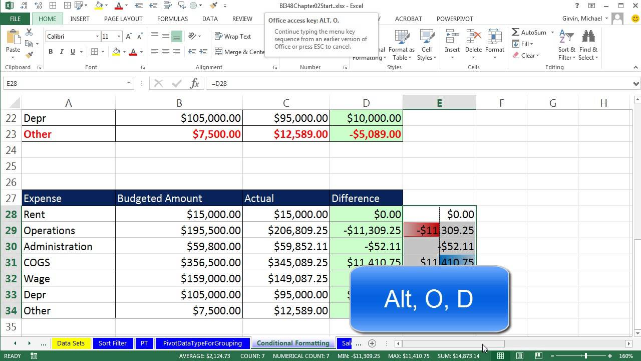 basic excel business analytics 14 logical formulas conditional