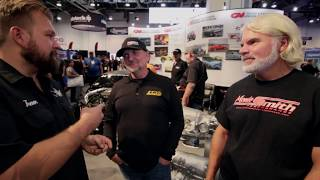 Drag Week Champions in Gear Vendors Display at SEMA 2017 Dave Schroeder Jeff Lutz Video V8TV