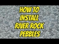 PEBBLES RIVER ROCK SHOWER FLOOR INSTALL IN WALK-IN SHOWER