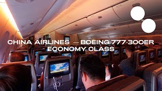 CHINA AIRLINES B777-300ER NEW ECONOMY   TAPEI - HONG KONG