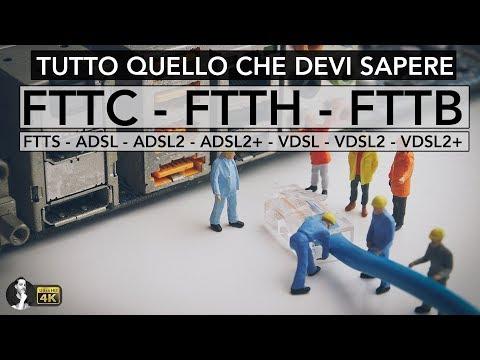 FTTH - FTTC - FTTB - VDSL - ADSL   TUTTE LE DIFFERENZE