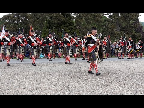 The Atholl Highlanders parade - Blair Atholl 2017 [4K/UHD]