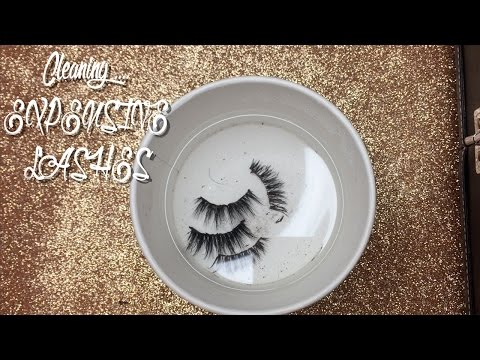 HOW TO CLEAN EXPENSIVE LASHES FT. LILLY LASHES IN MIAMI