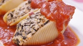 Stuffed Shells Recipe: Pasta Shells Stuffed With Cheese And Spinach: Di Kometa-dishin' With Di #67