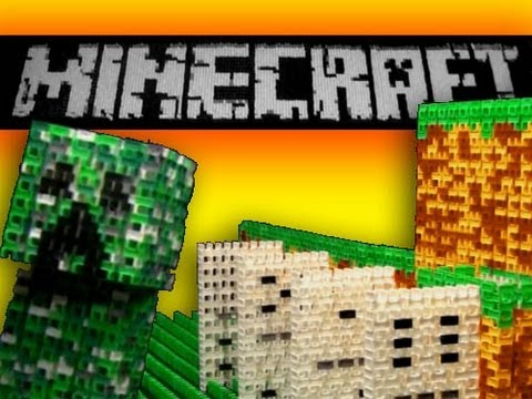 Minecraft Made From Dominoes