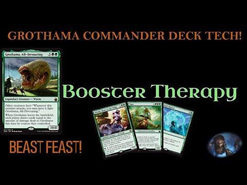 BEAST FEAST! GROTHAMA COMMANDER DECK TECH!