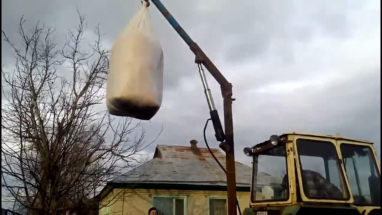 Кран на трактор своими руками