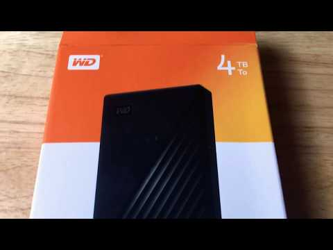 Western Digital 4TB New My Passport USB 3.0 Hard Drive Unboxing 9-23-19