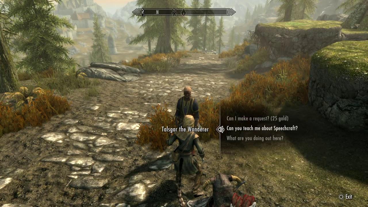 Skyrim - Meeting Talsgar the Wanderer