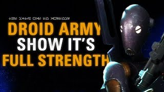 THE DROID ARMY SHOW IT'S FULL STRENGTH! Star Wars Battlefront 2