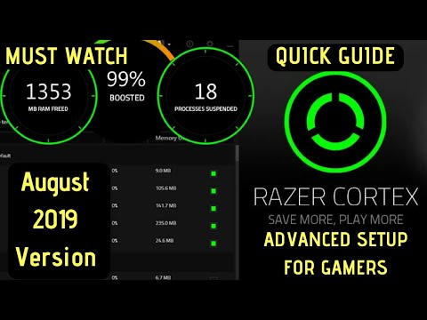 Razer Cortex Game Booster Advanced Setup 2019 August Version For Gamers | INCREASE FPS |
