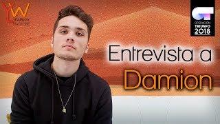 ENTREVISTA A DAMION (OT 2018): «La primera masterclass de Los Javis fue muy intensa»