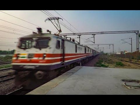 High Speed Dual WAP-5 Locomotive with Fastest Rajdhani Train    Delhi - Mumbai    130 Kmph !!