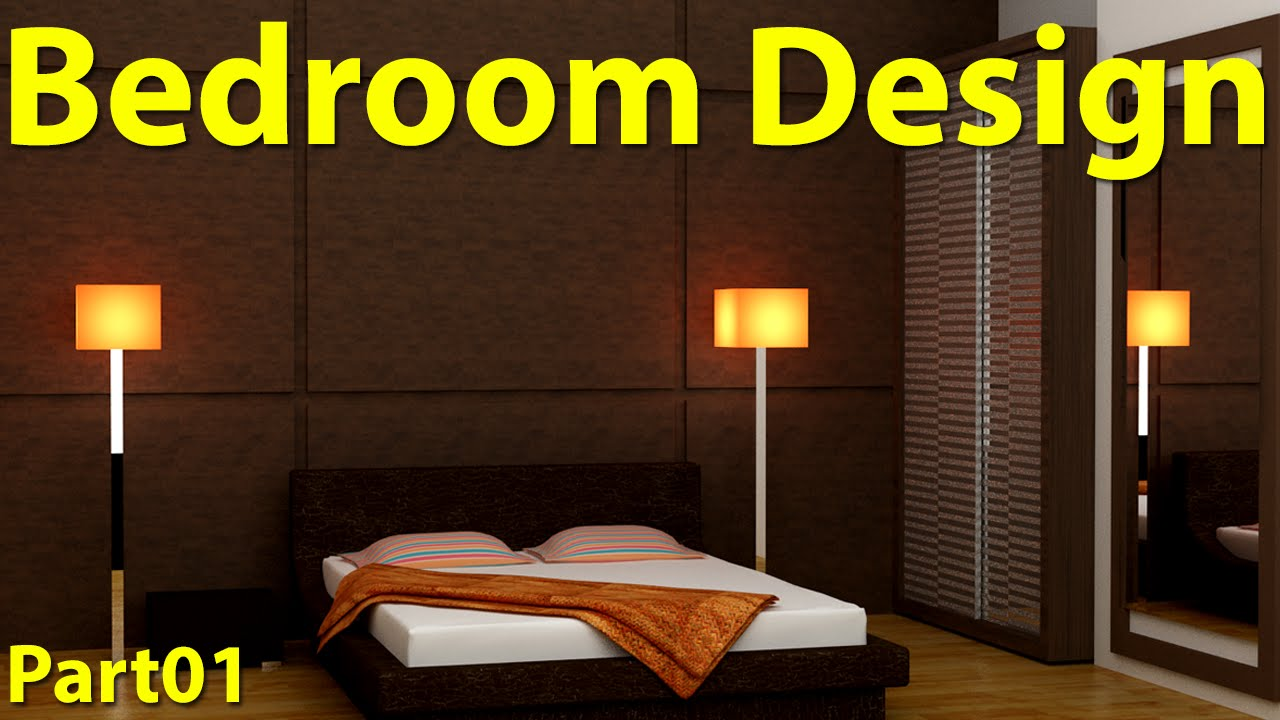 Bedroom design in 3d max part 01 youtube 3d bedroom design