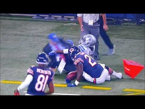 Dallas Cowboys JJ Wilcox RKO on bystander that was mesmerized by the megatron vs the Chicago Bears