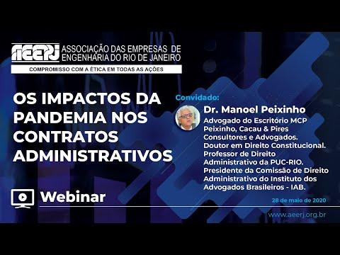 Webinar: Os Impactos da Pandemia nos Contratos Administrativos