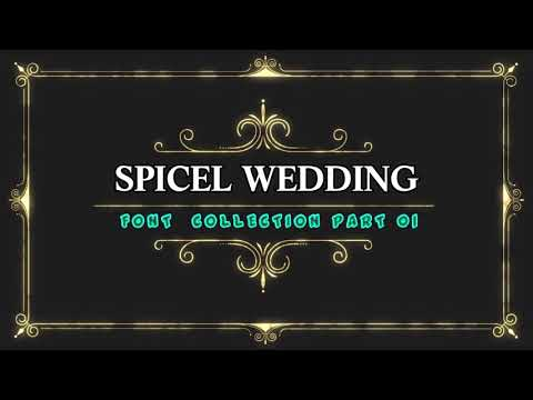 WEDDING FONT COLLECTION PART 01