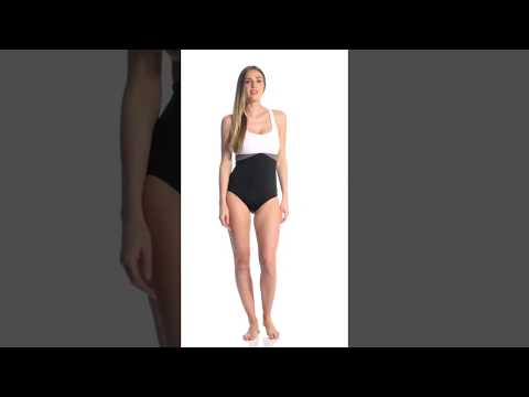 c389fc881bd8b Nike Women's Prism Crossback One Piece Swimsuit | SwimOutlet.com - YouTube