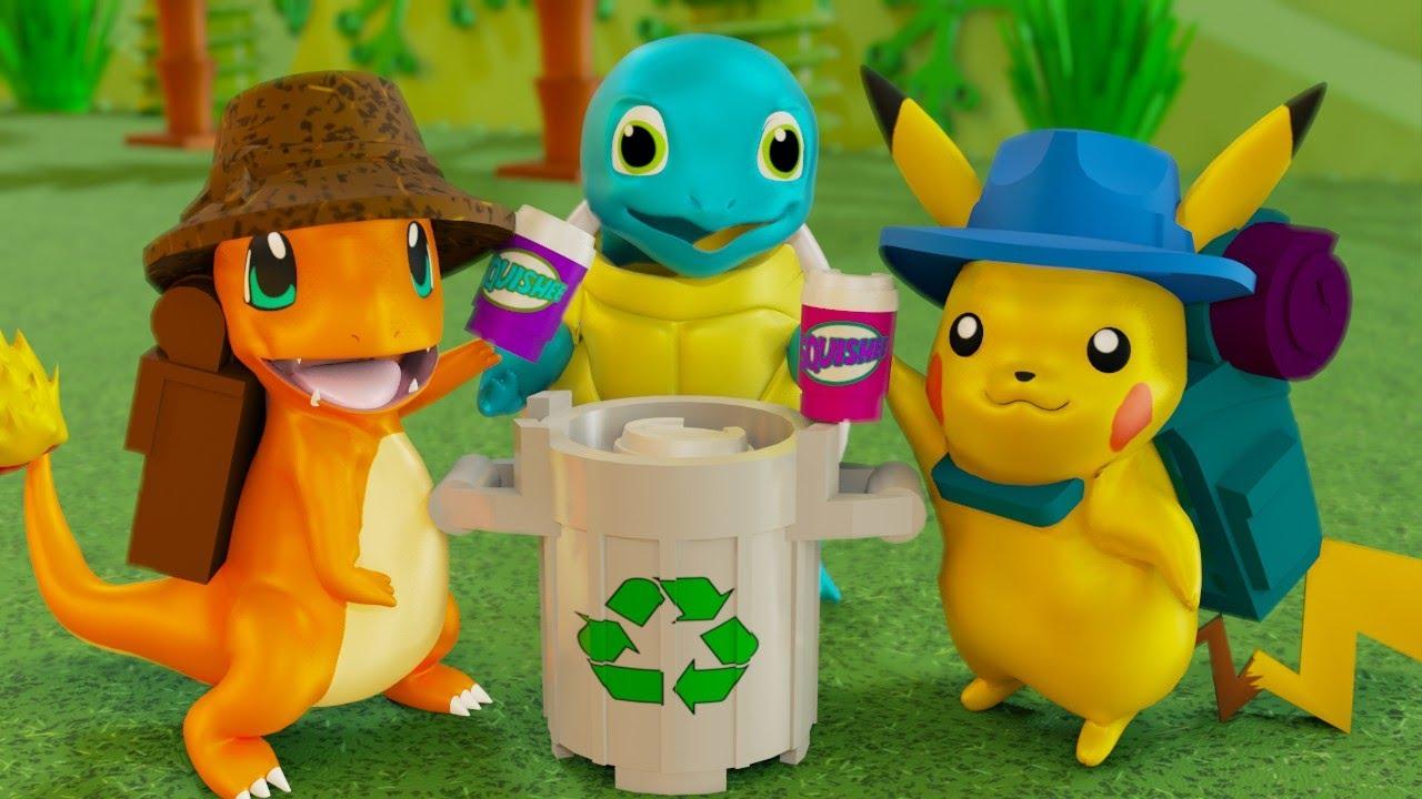 LEGO POKEMON ECOLOGY - CLEAN UP THE WORLD!!!