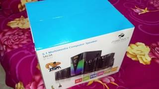 Zebronics 5.1 Salsa-BT-RUCF speaker system for computer desktop laptop TV DVD -- HINDI