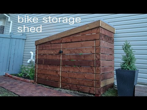 DIY Storage Shed // Bike Shed
