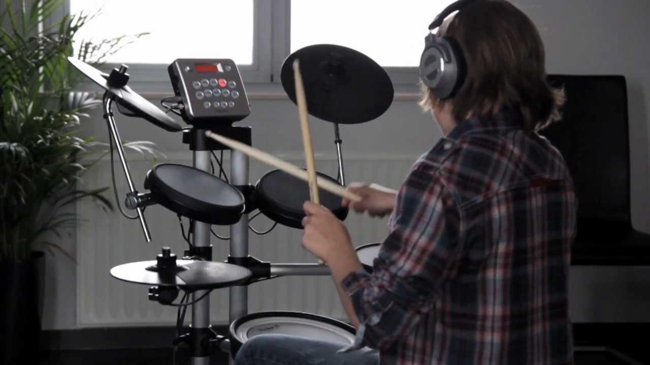 roland hd 3 v drums lite in stilte drummen youtube. Black Bedroom Furniture Sets. Home Design Ideas