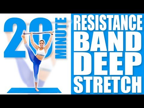 20 Minute Resistance Band Deep Stretch | Sydney Cummings