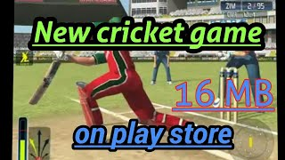 🔥New best cricket game for Android device 2018|| on play store must try || 16MB only link below