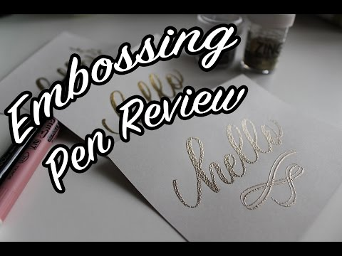 {REVIEW} Embossing Pens