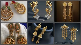 Unique Designs Of Gold Earrings Drop Earrings And Stud Earrings Designs For Daily Wear