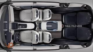 L'intérieur de la voiture 7 places Land Rover 2017