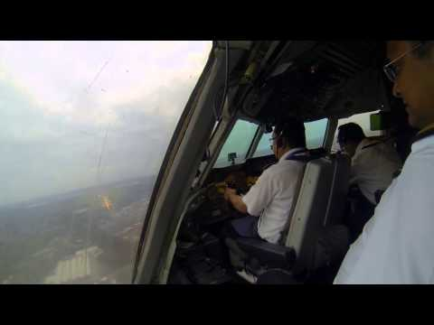 Biman landing at birmingham airport