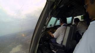 Biman landing at birmingham airport